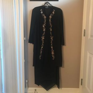 NWOT Embroidered Duster and Maxi Dress